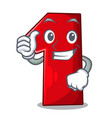 thumbs up number one index finger on cartoon vector image
