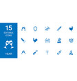 year icons vector image vector image