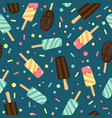 yummy ice cream and candy seamless repeat pattern vector image