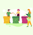 zero waste and recycling colorful vector image vector image