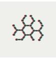 DNA molecule thin line icon vector image