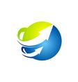 globe arrow technology abstract logo vector image