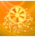 Compact Disc Isolated on Orange Background vector image