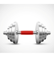 Isolated dumbbell vector image