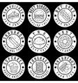 set of vintage grunge labels of food vector image