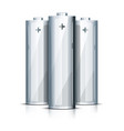 aa battery standing on white vector image vector image
