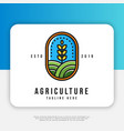 agriculture logo design inspiration vector image vector image
