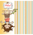 amused young girl standing with her head hanging vector image vector image