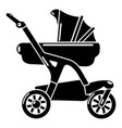 baby carriage designer icon simple black style vector image vector image