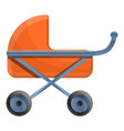 baby pram icon cartoon style vector image vector image