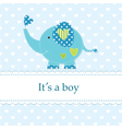 Baby shower with cute elephant 4 vector image vector image