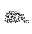 black monoline flourish scandinavian monogram vector image vector image