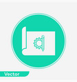 blueprint paper icon sign symbol vector image