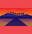 bridge to success conceptmountain of vector image