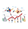 business concept business intelligence vector image vector image