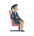 business woman avatar vector image vector image