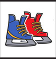 canadian traditional hockey skates isolated vector image vector image