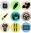Car maintenance icons in color vector image vector image