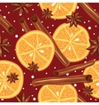 Cinnamon and oranges kitchen background Abstract vector image vector image