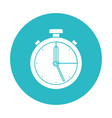 circle light blue with stopwatch icon vector image vector image
