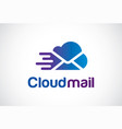 cloud mail logo template design vector image