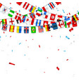 colorful flags garland different countries vector image vector image