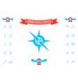 compass symbol icon vector image