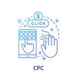 cpc concept icon vector image vector image