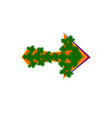 cursor arrow mouse stylized tree web merry vector image