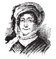 dolley todd madison vintage vector image vector image