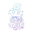 doodle lettering Sea Trip vector image vector image