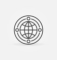 earth globe with circles concept minimal vector image
