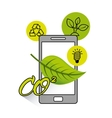 ecology online technology flat icons vector image