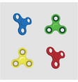 fidget spinner set design vector image