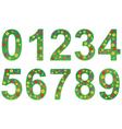 floral number set vector image vector image
