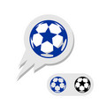 football soccer ball with stars logo vector image vector image