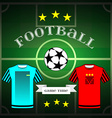 Football team wear and champion league ball vector image vector image