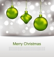 Glowing Postcard with Christmas Balls vector image
