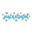 hackathon concept card poster paper art design vector image vector image