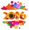 happy new year colorful background gold clock vector image vector image