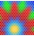 honeycomb - abstract geometric hexagon flower vector image vector image