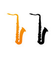 icon of saxophone vector image