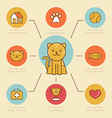 infographics design elements icons and badges vector image vector image