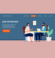 job interview corporate company jobs applicant vector image vector image