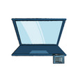 laptop computer design vector image vector image