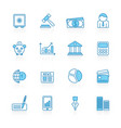 line with blue background business and finance vector image vector image