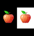 low poly red apple vector image vector image