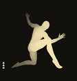 man is posing and dancing silhouette of a dancer vector image