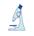 microscope symbol a medical laboratory or vector image vector image