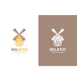 mill and wifi logo combination farm and vector image vector image